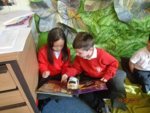 They loved the pop-up books!